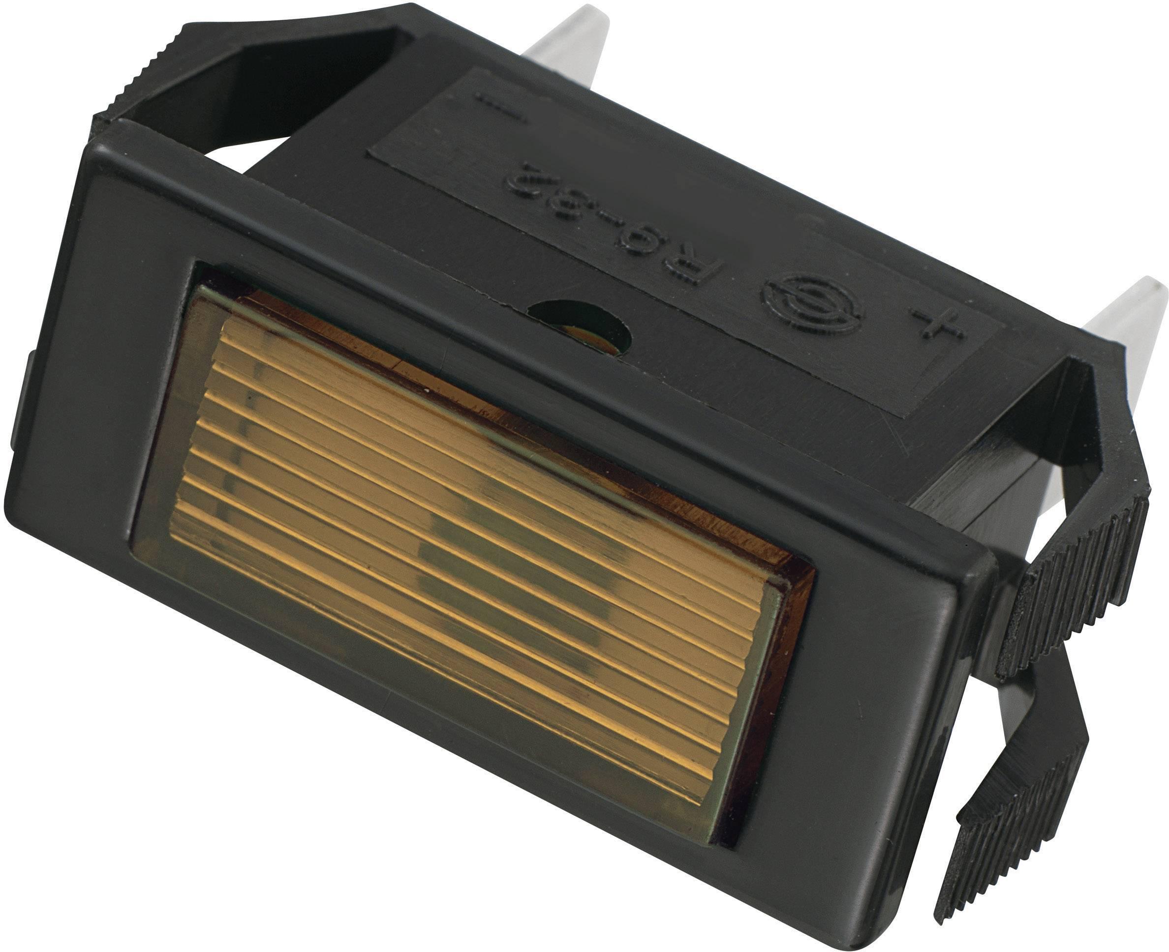 Signalizační světlo SCI, 12 V/DC, 23,9 mm, obdélníkové, jantarové