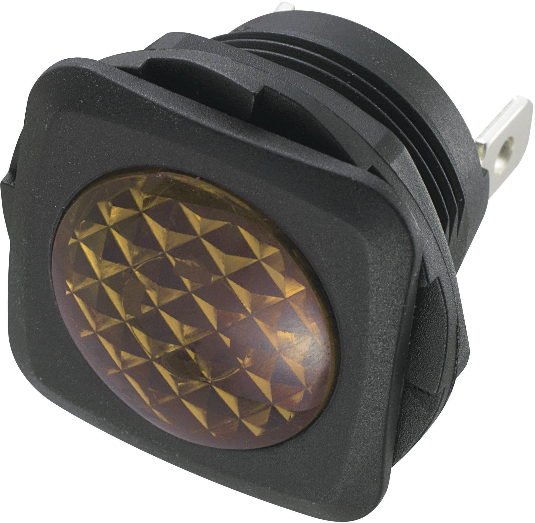Neonové signalizační světlo SCI, žlutá, čtvercové