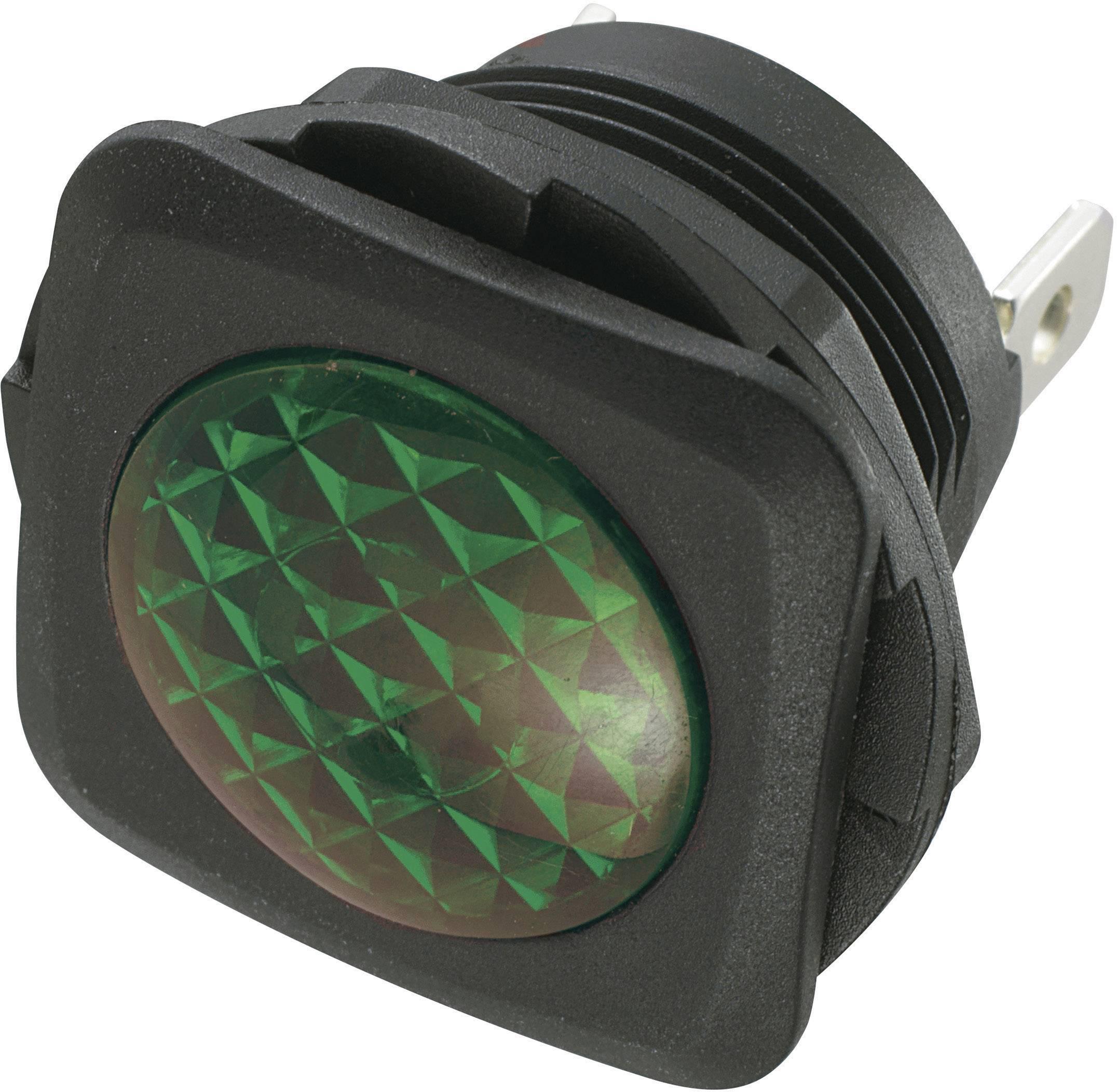Miniaturní neonová signalizace SCI R9-95N (28430c936), Čtvercové, 230 V/AC, Polyamid6.6, zelená