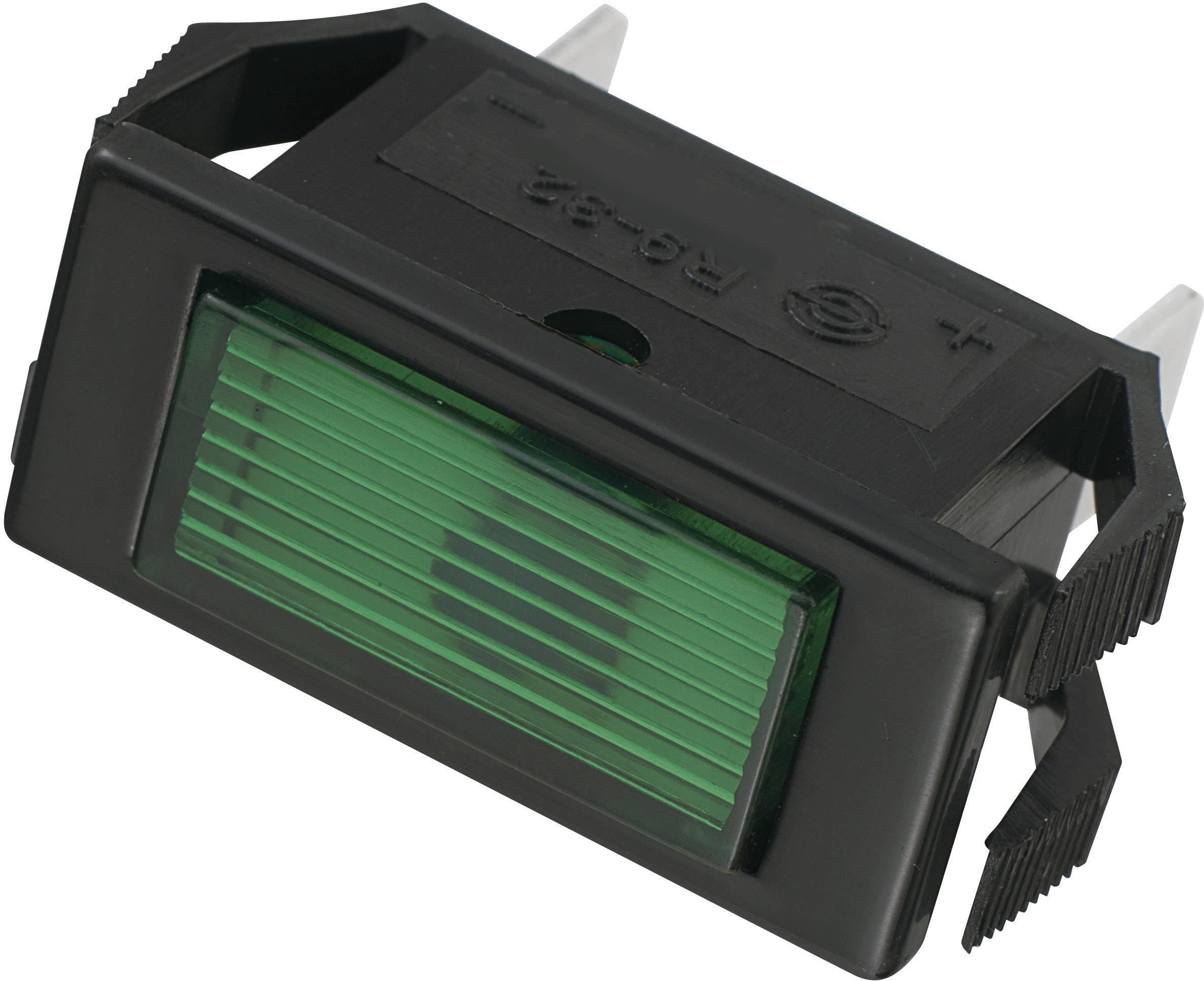 Signalizační světlo SCI, 24 V/DC, 23,9 mm, obdélníkové, zelené