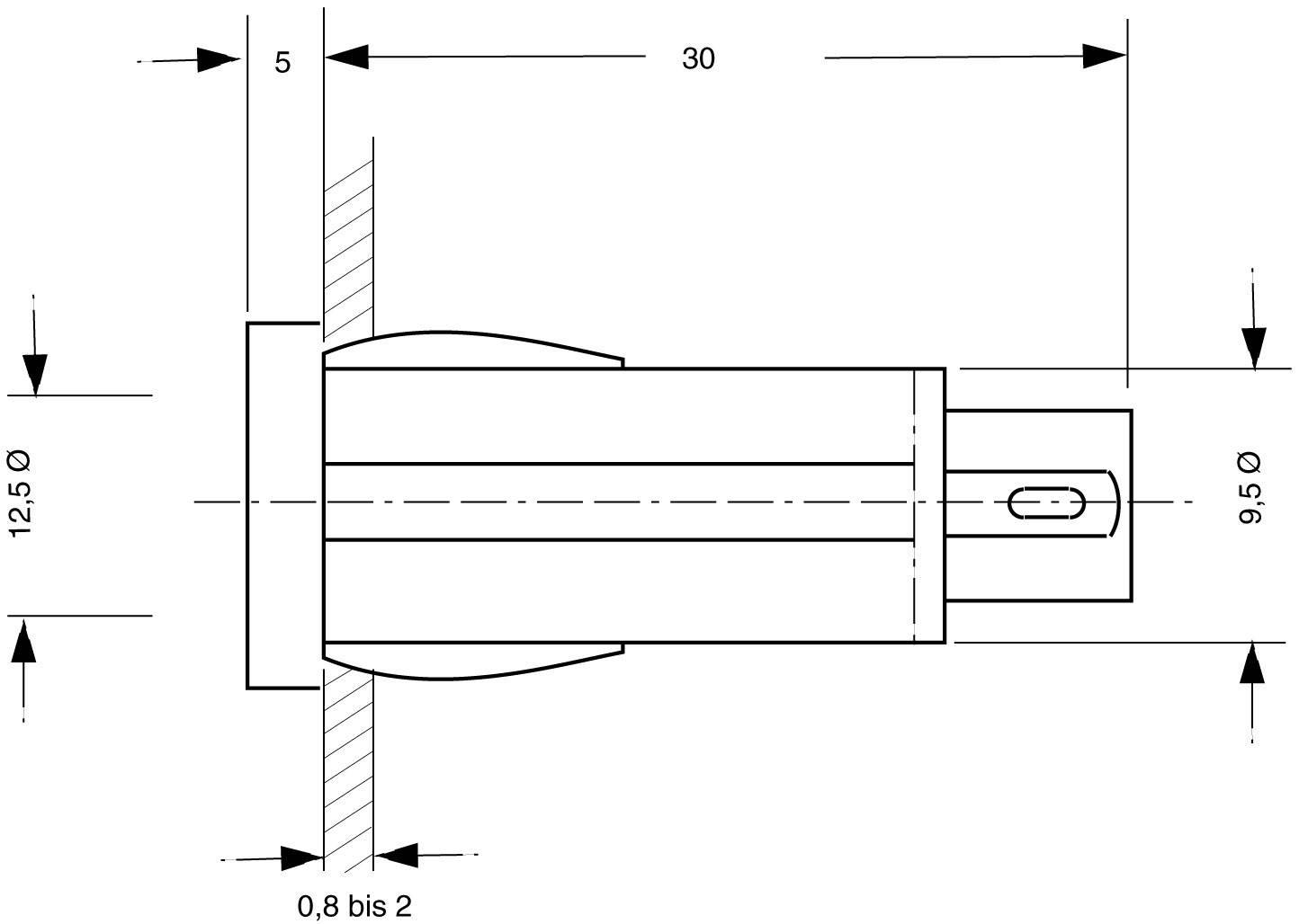 Standardní signálka čirá 220V,0,5 W