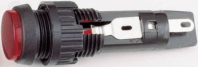 Signalizační světlo s objímkou RAFI, 35 V, T4.6, 9,1 mm, červené