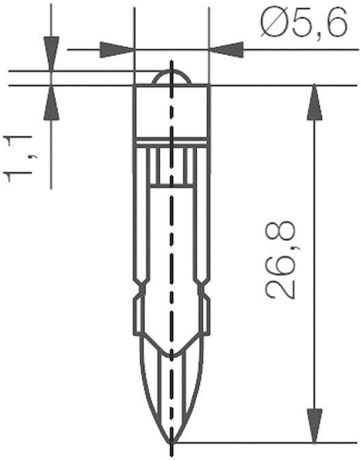 LEDžiarovka Signal Construct MEDT5562, T5.5 k, 12 V/DC, 2000 mcd, 428 mlm, biela