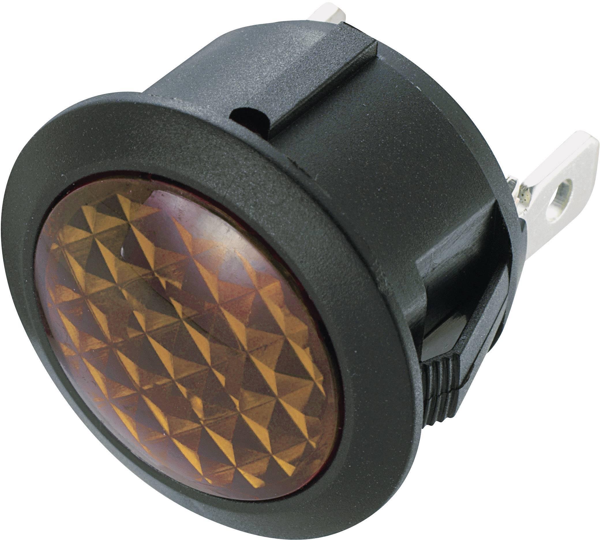 Neonové signalizační světlo SCI, žlutá, kulaté