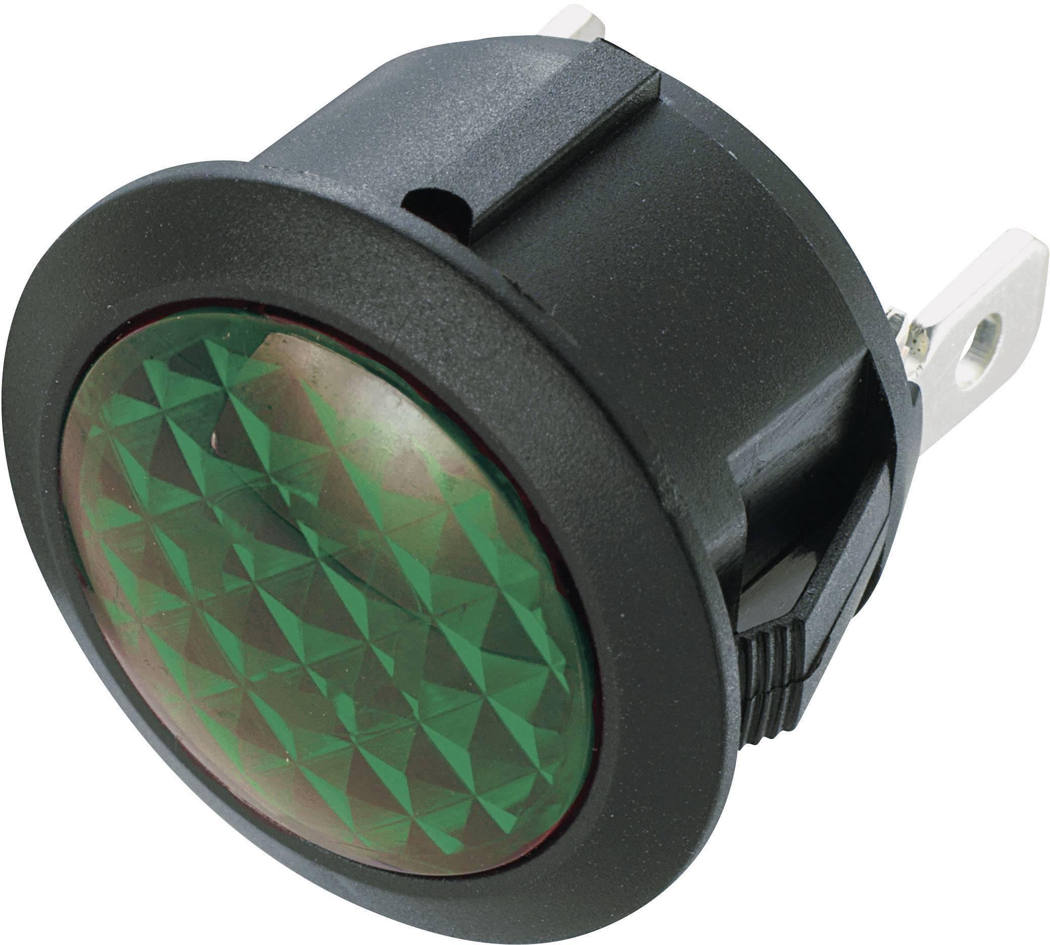 Neonové signalizační světlo SCI, zelená, kulaté
