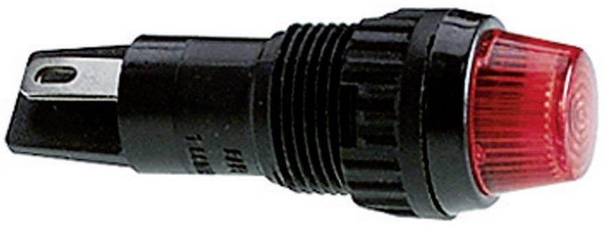 Pouzdro pro signalizační světla RAFI, červená (transparentní), kulaté