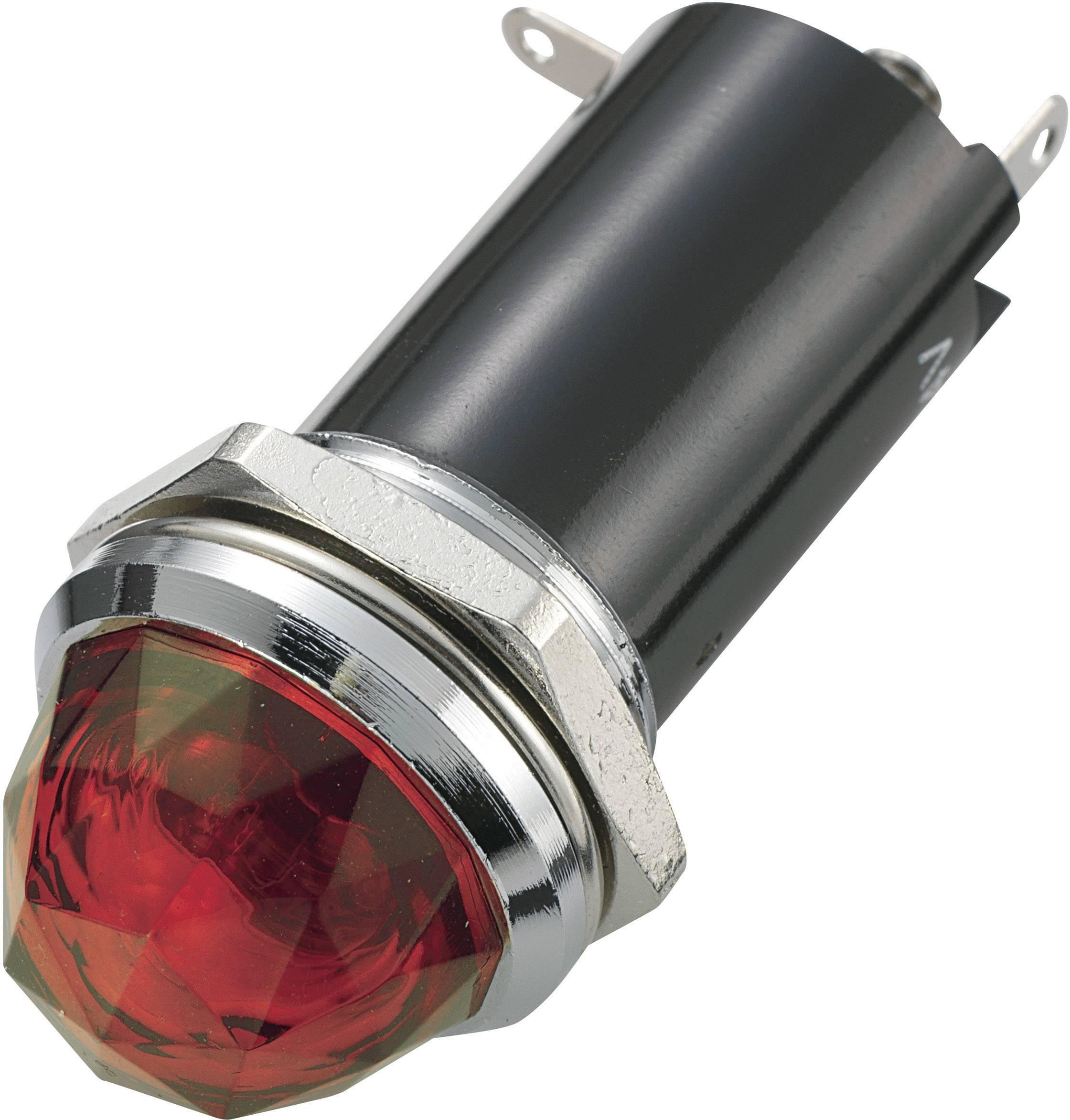 Signalizační světlo SCI, 12 V/DC, 16,2 mm, kulaté, červené