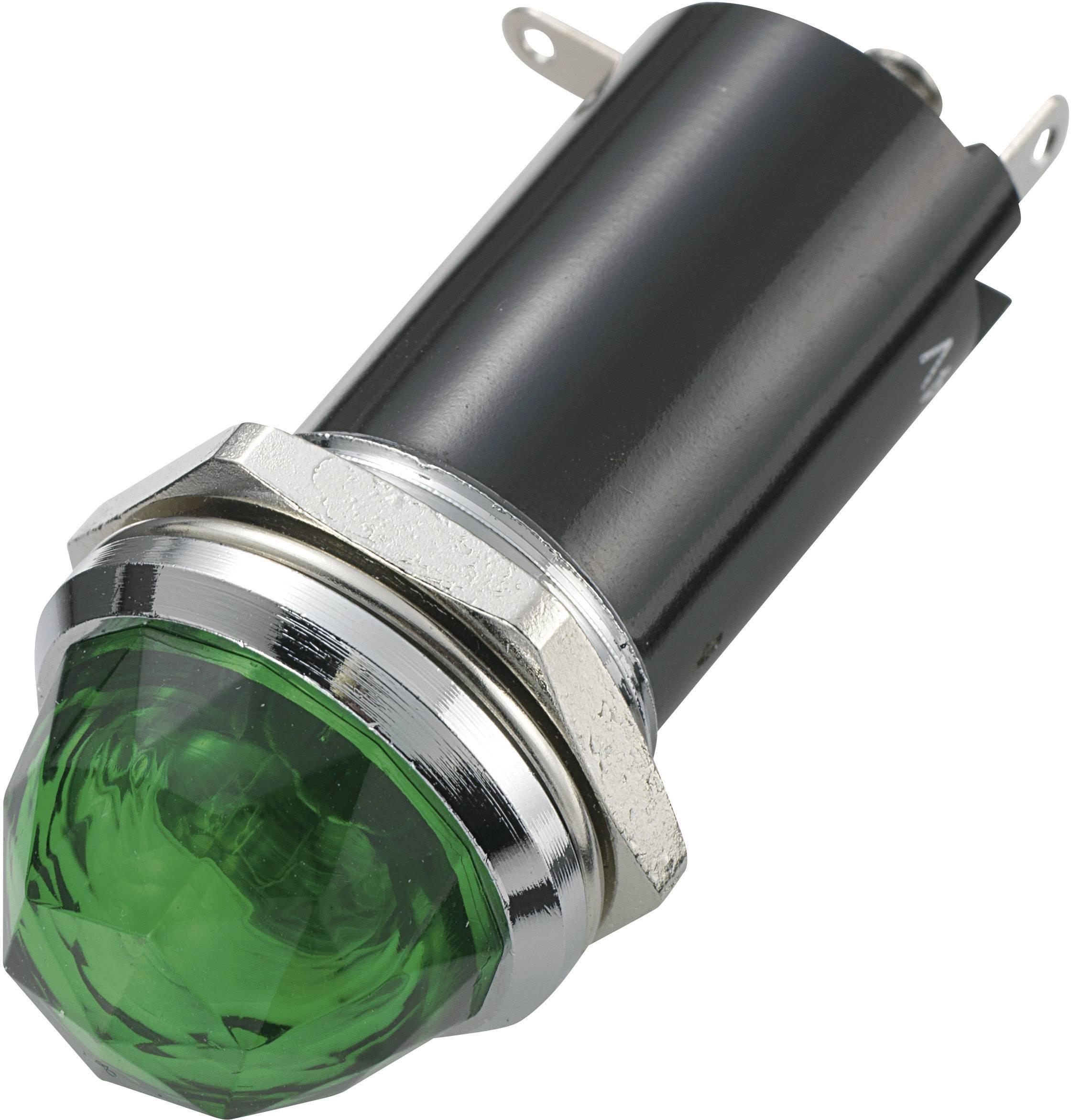 Signalizační světlo SCI, 12 V/DC, 16,2 mm, kulaté, zelené