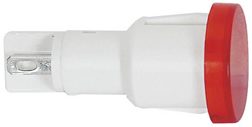 Signalizační světlo RAFI, 28 V, 14 mm, červené (transpa.), kulaté