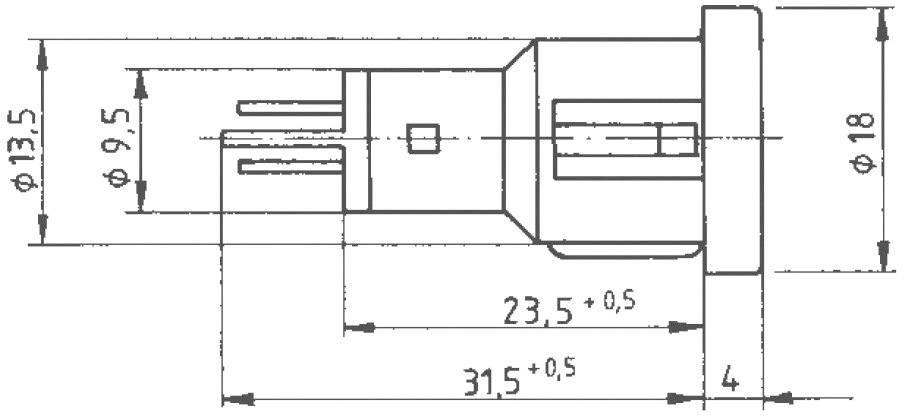 RAFI 1.69.523.003/1301, červená (transparentná), 1 ks