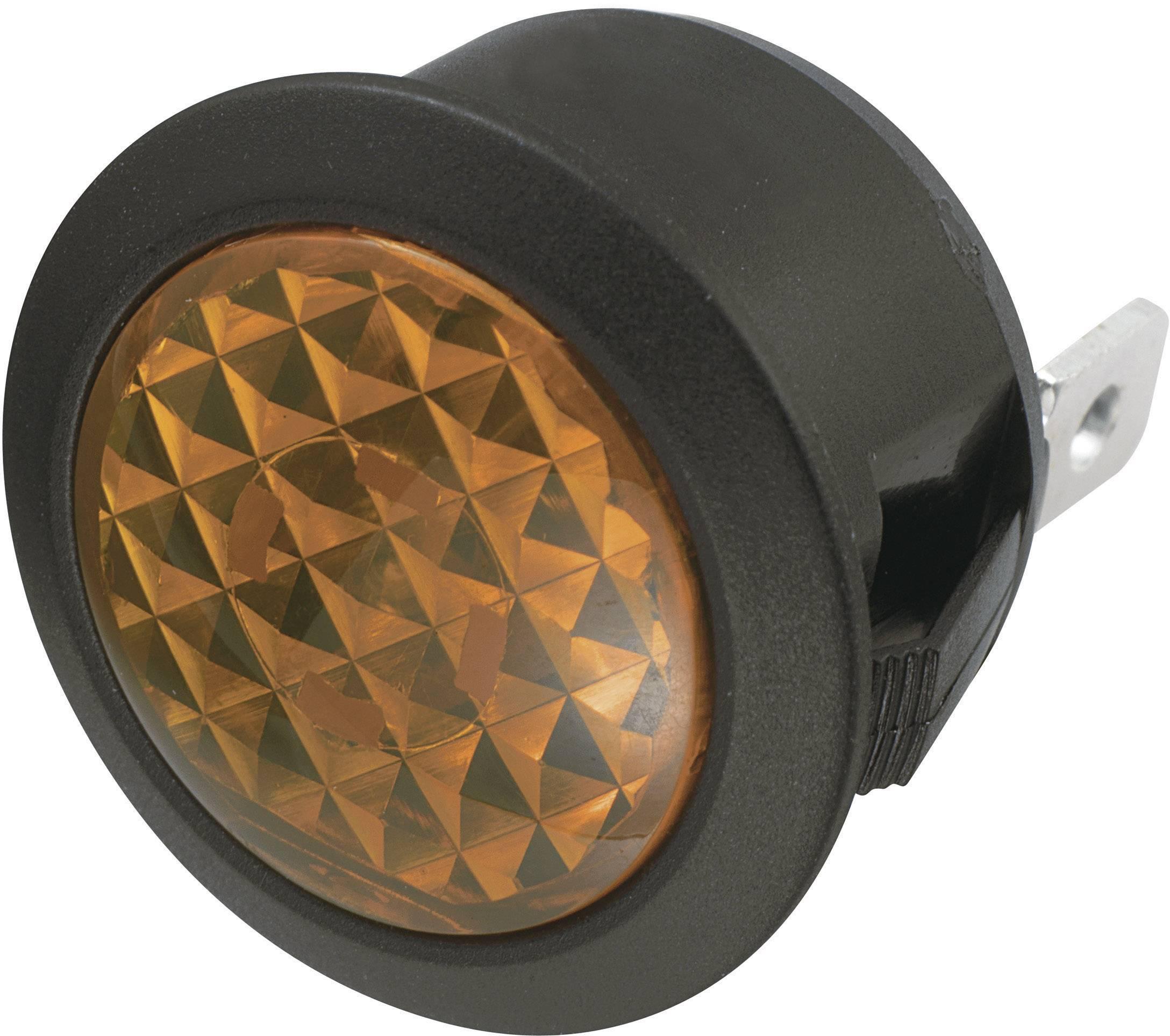 Signalizační světlo SCI, 12 V/DC, 20,2 mm, kulaté, jantarové