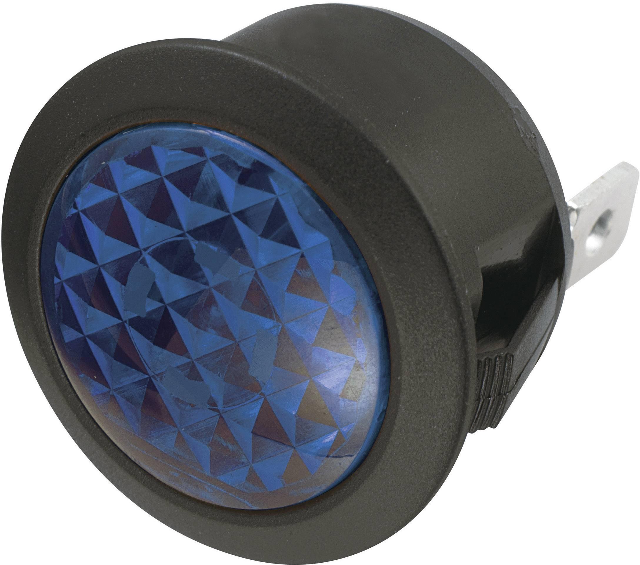 Standardní signálka se žárovkou TRU COMPONENTS TC-R9-92B 1588045, modrá, černá, 1 ks
