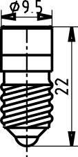 LEDžiarovka Signal Construct MWCE22469, E10, 60 V/DC, 60 V/AC, modrá