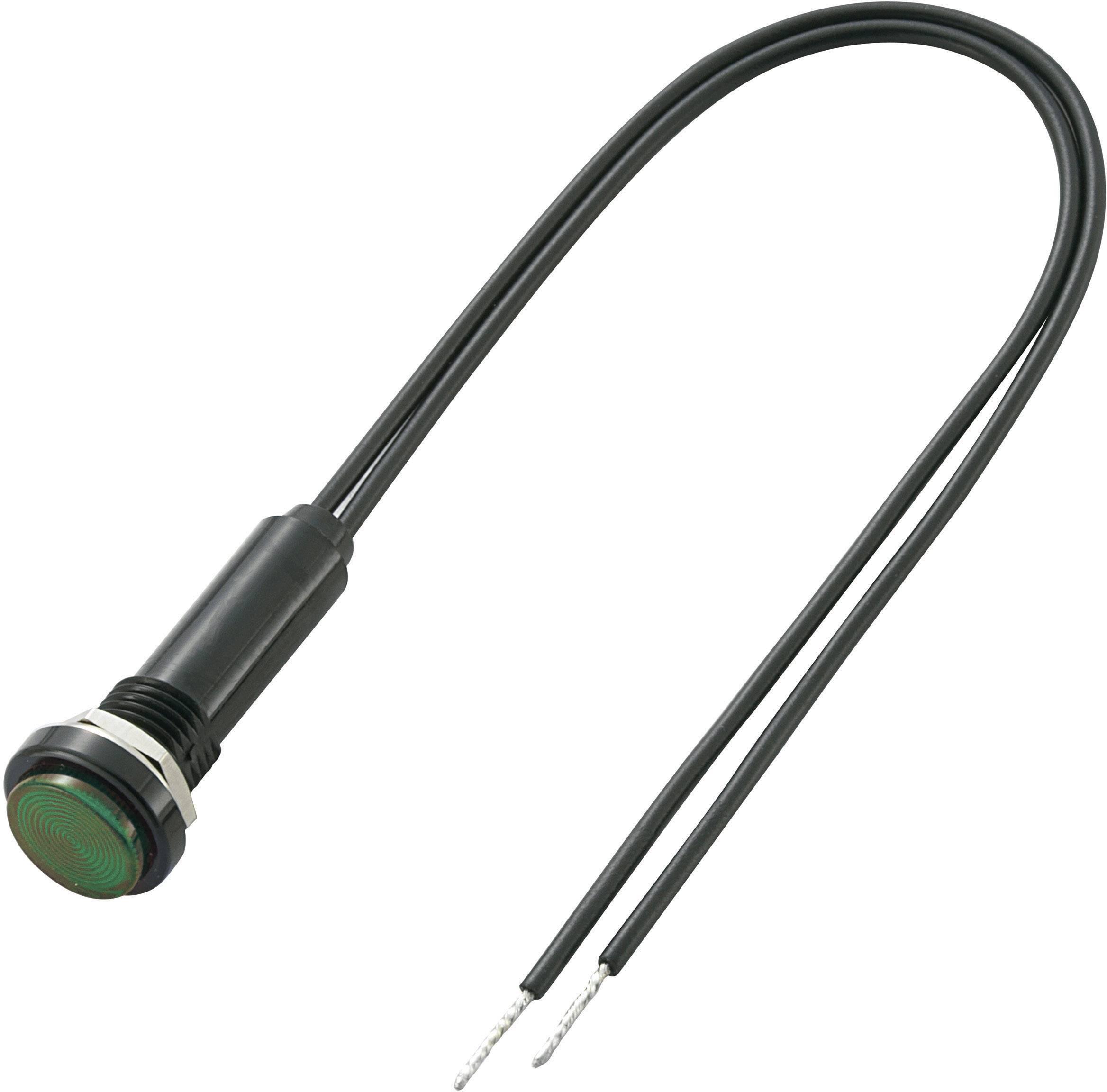 Miniaturní neonová signalizace Sedeco, 230 V/AC, Polykarbonát, zelená
