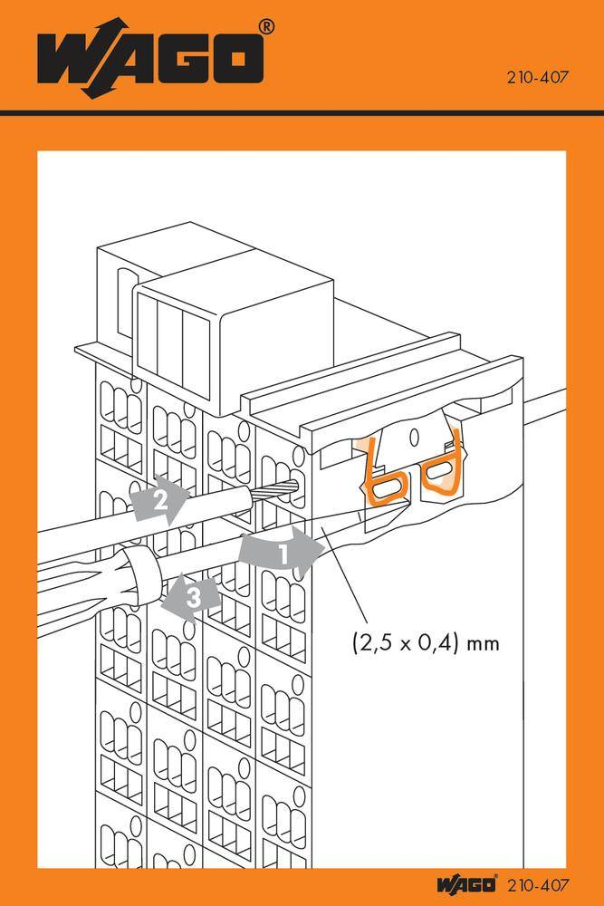 Manipulační nálepka, WAGO 210-407, 100 ks