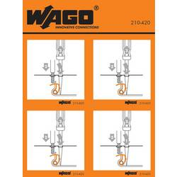 Stickers for operating instructions, WAGO 210-420, 100 ks