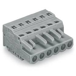 Zásuvkový konektor na kabel WAGO 231-106/026-047/034-000, 61.45 mm, pólů 6, rozteč 5 mm, 50 ks
