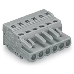 Zásuvkový konektor na kabel WAGO 231-114/026-000, 71.50 mm, pólů 14, rozteč 5 mm, 25 ks