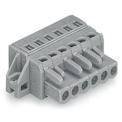 Zásuvkový konektor na kabel WAGO 231-106/031-000, 44.80 mm, pólů 6, rozteč 5 mm, 50 ks