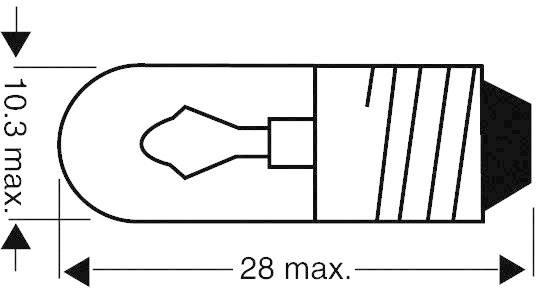 Žiarovka pre osvetlenie stupnice E10, 1.2 W, 100 mA, 12 V