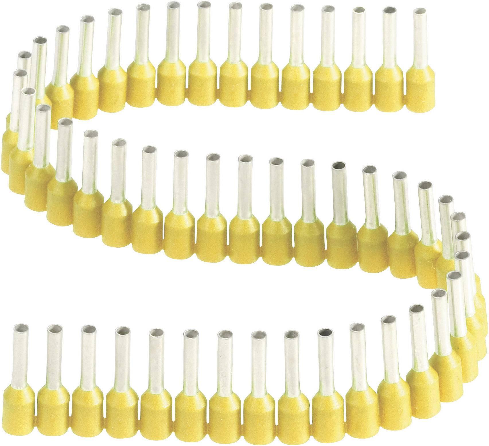 Dutinka Vogt Verbindungstechnik 460308.00050, spojovací materiál , 1 mm², 8 mm, čiastočne izolované, žltá, 1 ks