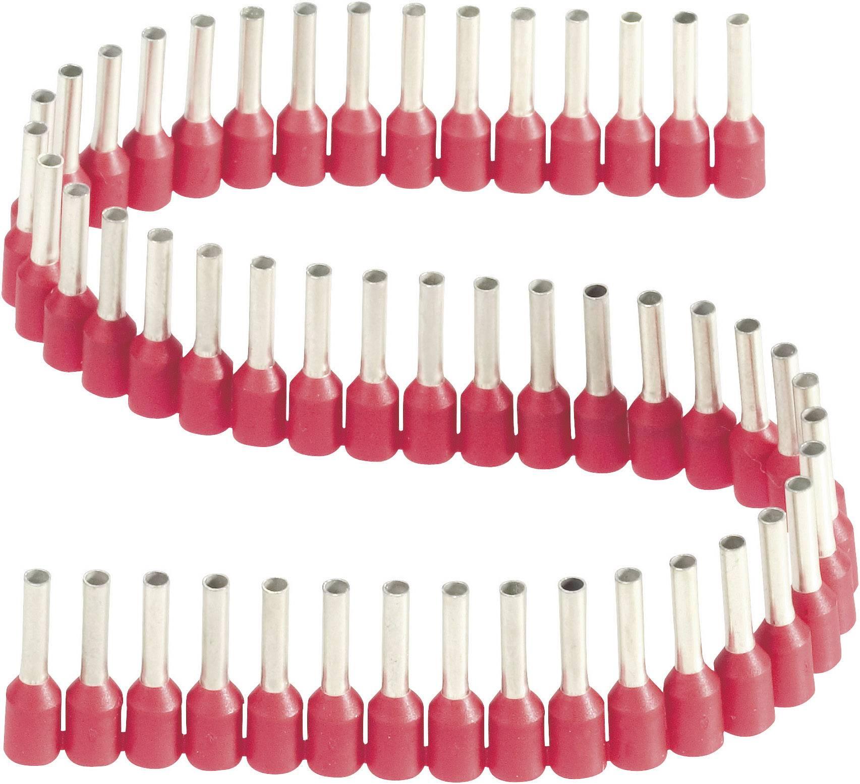 Dutinka v pásce s plastovým límcem Vogt Verbindungstechnik 460408.00050, 1,5 mm², 8 mm, červená