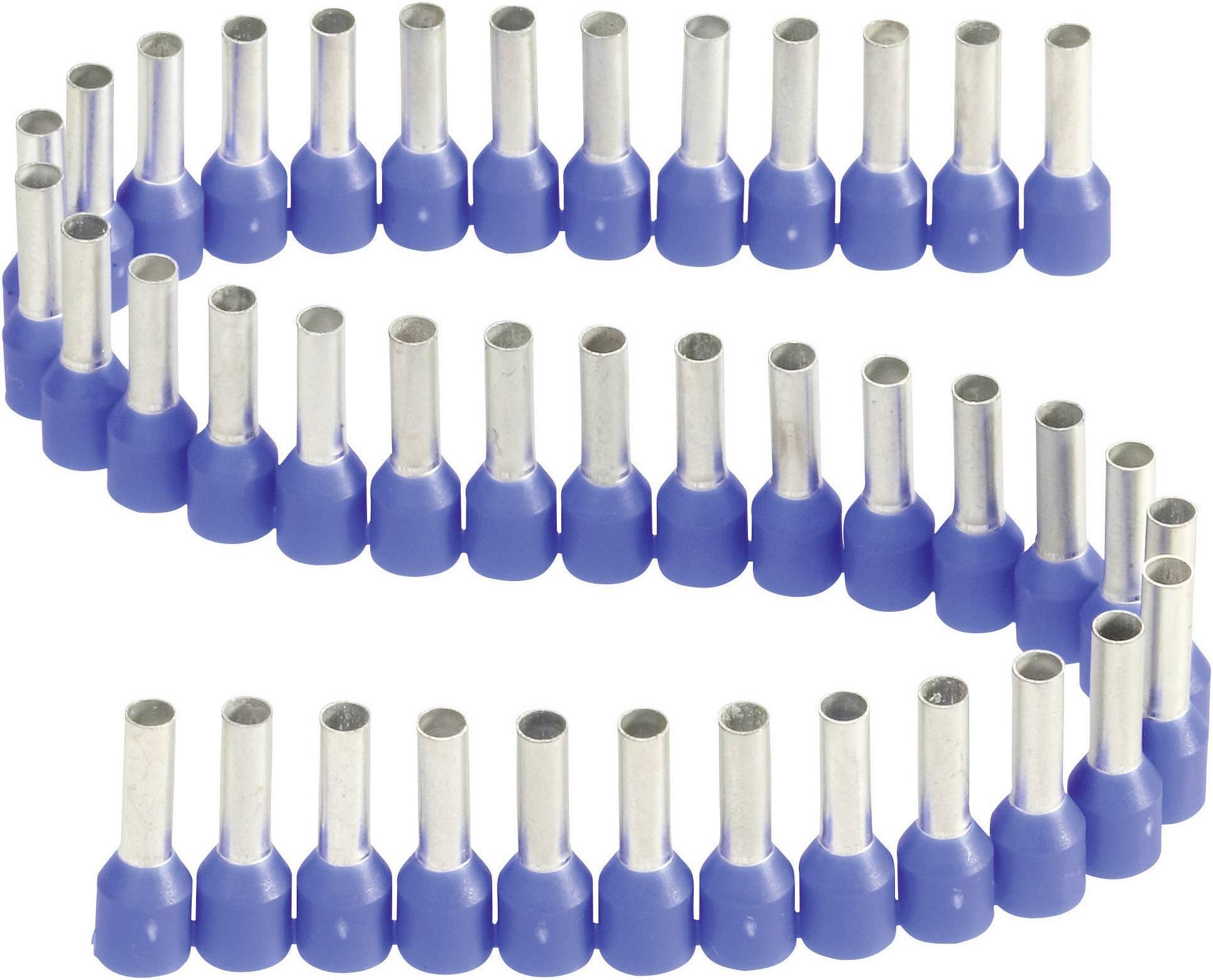 Dutinka Vogt Verbindungstechnik 460508.00050, spojovací materiál , 2.50 mm², 8 mm, čiastočne izolované, modrá, 1 ks