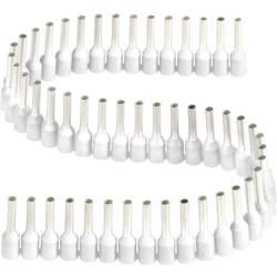 Dutinka Vogt Verbindungstechnik 470108.00050, spojovací materiál , 0.50 mm², 8 mm, čiastočne izolované, biela, 1 ks