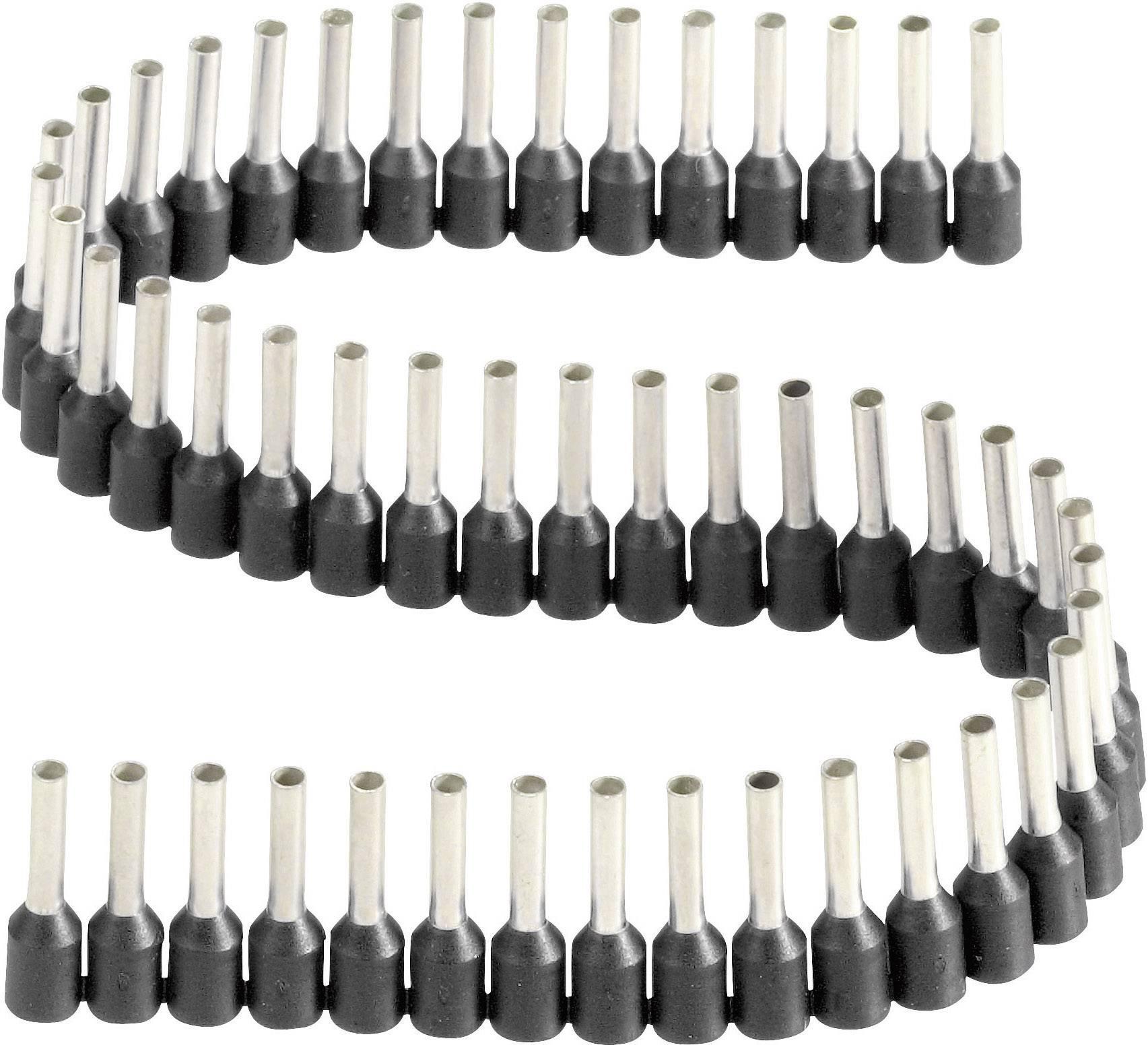 Dutinka Vogt Verbindungstechnik 470408.00050, spojovací materiál , 1.50 mm², 8 mm, čiastočne izolované, čierna, 1 ks