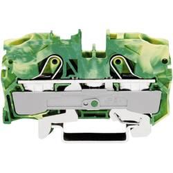 Svorka ochranného vodiča WAGO 2010-1207, osadenie: Terre, pružinová svorka, 10 mm, zelenožltá, 1 ks