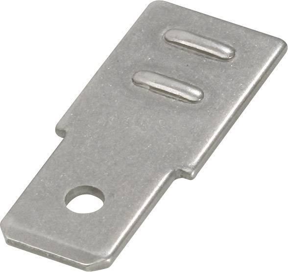 Jazýček konektora Vogt Verbindungstechnik 38402SBS.80 6.3 mm x 0.8 mm, 180 °, neizolované, kov, 1 ks