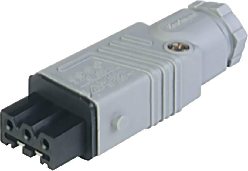 Sieťový konektor Hirschmann STAK 3 N, zásuvka, rovná, počet kontaktov: 3 + PE, 16 A, 400 V, sivá, 1 ks