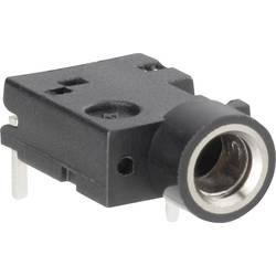 Jack konektor 3,5 mm stereo BKL Electronic 1109050, zásuvka vestavná horizontální, 3pól., černá