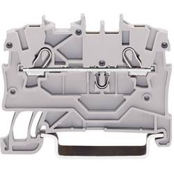 Priechodná svorka WAGO 2000-1201, osadenie: L, pružinová svorka, 3.50 mm, sivá, 1 ks
