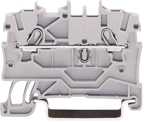 Svorka ochranného vodiča WAGO 2000-1207, osadenie: Terre, pružinová svorka, 3.50 mm, zelenožltá, 1 ks