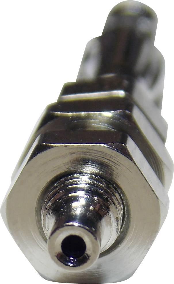 Banánový konektor SCI R8-B2H – zástrčka, rovná, Ø hrotu: 4 mm, strieborná, 1 ks