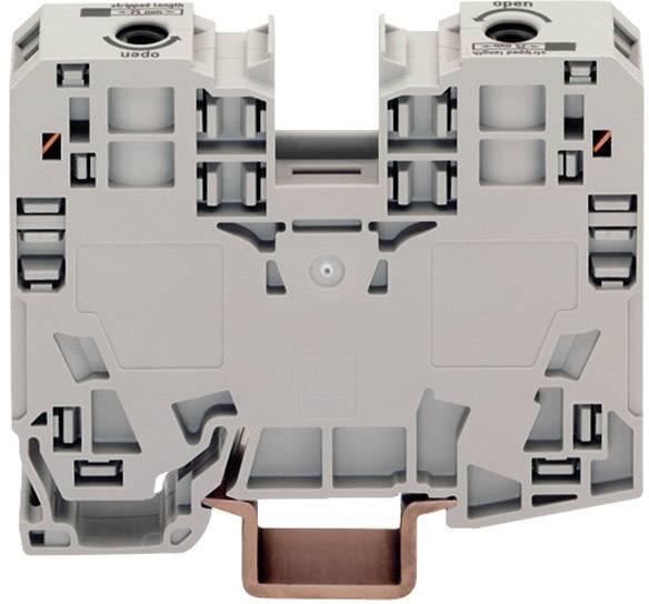 Priechodná svorka WAGO 285-135, osadenie: L, pružinová svorka, 16 mm, sivá, 1 ks