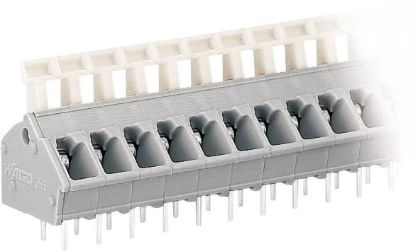 Pružinová svorka WAGO 256-402, 2.50 mm², Počet pinov 2, sivá, 1 ks