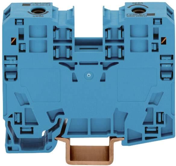 Priechodná svorka WAGO 285-134, osadenie: N, pružinová svorka, 16 mm, modrá, 1 ks
