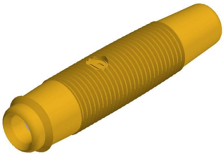 Laboratórna zásuvka SKS Hirschmann KUN 30 – zásuvka, rovná, Ø hrotu: 4 mm, žltá, 1 ks