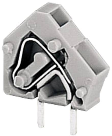 Pružinová svorka WAGO 236-501, 2.50 mm², počet pinov 1, sivá, 1 ks