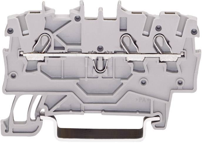 Priechodná svorka WAGO 2000-1301, osadenie: L, pružinová svorka, 3.50 mm, sivá, 1 ks
