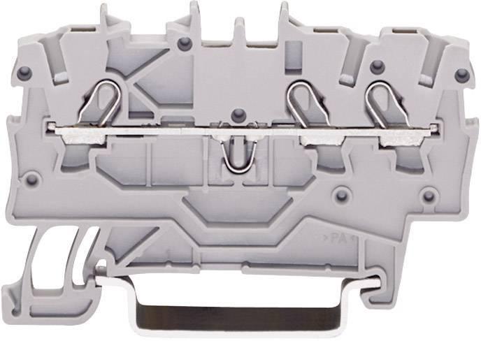 Svorka ochranného vodiča WAGO 2000-1307, osadenie: Terre, pružinová svorka, 3.50 mm, zelenožltá, 1 ks
