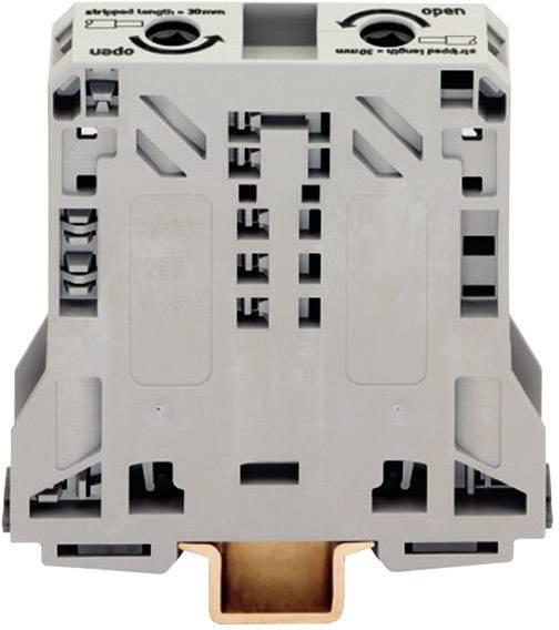 Priechodná svorka WAGO 285-150, osadenie: L, pružinová svorka, 20 mm, sivá, 1 ks