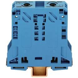 Priechodná svorka WAGO 285-154, osadenie: N, pružinová svorka, 20 mm, modrá, 1 ks