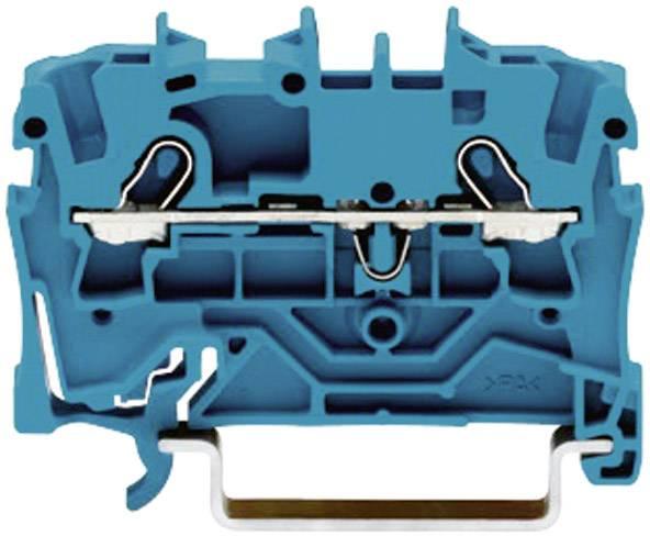 Priechodná svorka WAGO 2001-1204, osadenie: N, pružinová svorka, 4.20 mm, modrá, 1 ks
