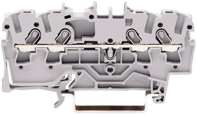 Priechodná svorka WAGO 2000-1401, osadenie: L, pružinová svorka, 3.50 mm, sivá, 1 ks