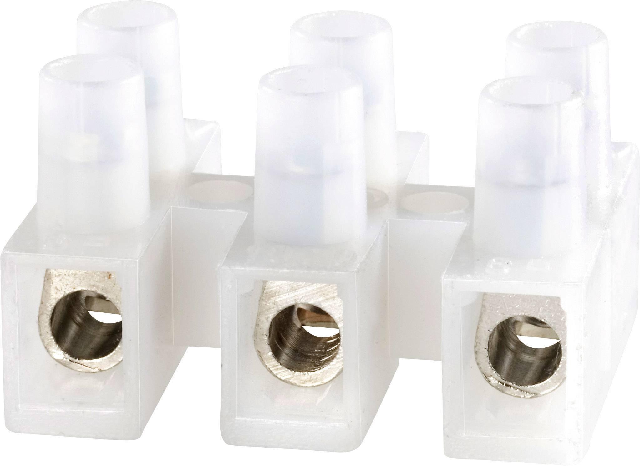 Svietidlové svorky Adels-Contact 1000/3 DS 125303 na kábel s rozmerom -6 mm², tuhosť -6 mm², počet pinov 3, 1 ks, prírodná