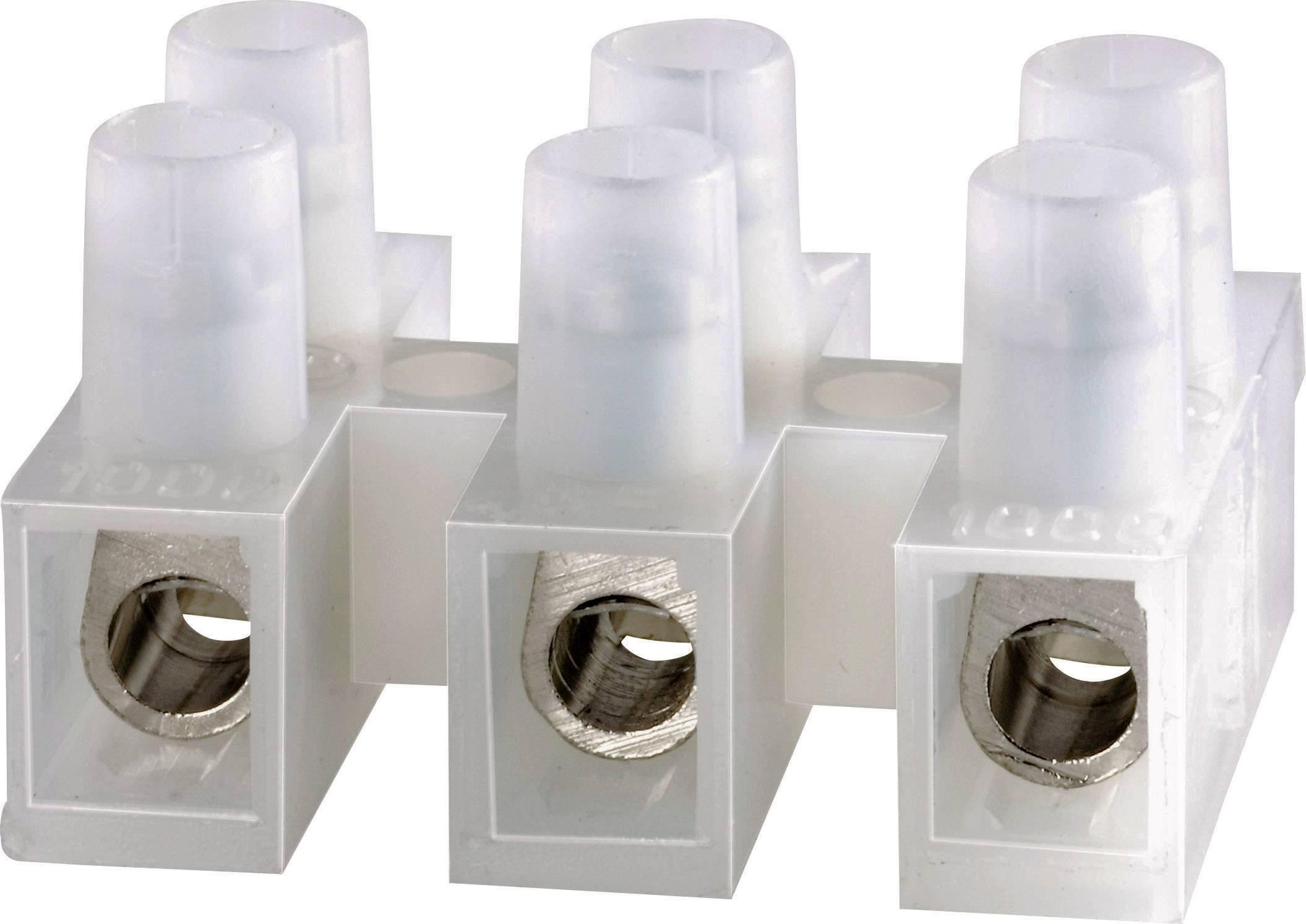 Svietidlové svorky Adels-Contact 500/335 123203 na kábel s rozmerom -2.5 mm², tuhosť -2.5 mm², počet pinov 3, 1 ks, prírodná