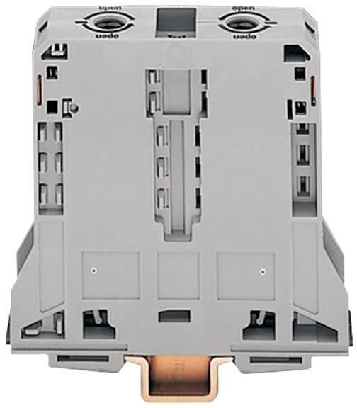 Priechodná svorka WAGO 285-195, osadenie: L, pružinová svorka, 25 mm, sivá, 1 ks